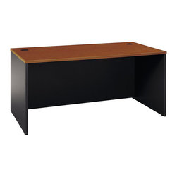 "BBF - BBF Series C 66W Desk Shell - BBF - Computer Desks - WC48542A - Productivity with a smaller footprint the BBF Series C 66""W Desk Shell offers solutions for any sized office. Add pieces from the Series C Collection to fit the way you work. Return Bridges create allow you to create an L-Shape surface to increase your productivity space. Under the surface the Desk Shell accommodates Pedestals to provide additional storage and above the 60""W Hutch is easily accepted. Wire management grommets conceal unsightly cables. Durable thermally laminated Work Surface resists scratches to remain attractive for years. Solid construction meets ANSI/BIFMA test standards in place at time of manufacture; this product is American Made and is backed by BBF 10-Year Warranty."