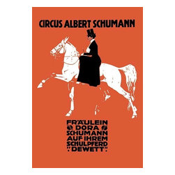 """Buyenlarge.com, Inc. - Circus Albert Schumann- Paper Poster 20"""" x 30"""" - Another high quality vintage art reproduction by Buyenlarge. One of many rare and wonderful images brought forward in time. I hope they bring you pleasure each and every time you look at them."""