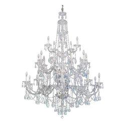 Schonbek - Schonbek Lighting 3610 Sterling 25 Light Chandelier - Schonbek Lighting 3610 Sterling Swarovski Crystal 25 Light Chandelier