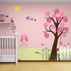My Wonderful Walls - Splendid Garden Wall Mural Stencil Kit for Painting - - 34 individual flower garden themed stencils