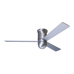 "Modern Fan Company - Modern Fan Company Cirrus Hugger Brushed Aluminum 52"" Ceiling Fan + Wall Control - Features:"
