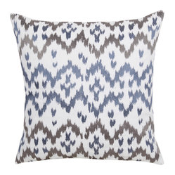 Ikat Pillow, Set of 2, Deep Sea
