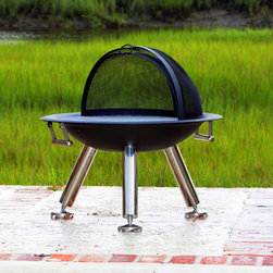 Fire Sense Grilltech Terrace Fire Pit - The wood-burning Fire Sense Grilltech Terrace Fire Pit is perfect for long summer nights of grilling and stargazing. -Mantels Direct
