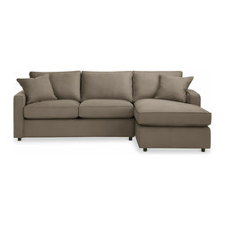 "York Air Coil Sleeper with Right-Arm Chaise 105"" - For someone who doesn't feel satisfied without a sectional, this sleeper by Room and Board has great lines and can meet those needs."
