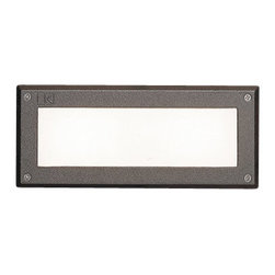 Kichler - Kichler 15074AZT Brick Light Low Voltage Deck / Rail Lights - Deck & Patio - Designed to be integrated into brick walls during construction. Casts a low, even spread of light. Available with or without Louvers. (With louvers mode: Kichler 15073)