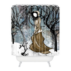 DENY Designs - Amy Smith Winter 1 Shower Curtain - Who says bathrooms can't be fun? To get the most bang for your buck, start with an artistic, inventive shower curtain. We've got endless options that will really make your bathroom pop. Heck, your guests may start spending a little extra time in there because of it!