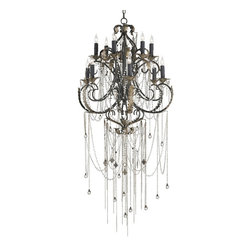 Currey & Co - Currey & Co 9277 Antiquity Old Iron 12 Light Chandelier - Currey & Co 9277 Antiquity Old Iron 12 Light Chandelier