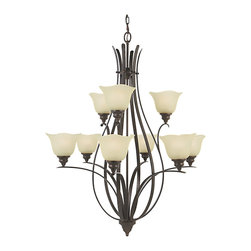 Murray Feiss - Murray Feiss F2052/6+3GBZ Morningside 9 Bulb Grecian Bronze Chandelier - Murray Feiss F2052/6+3GBZ Morningside 9 Bulb Grecian Bronze Chandelier