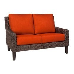 Whitecraft - Whitecraft Mona Loveseat - As firm believers in tradition and a strong belief in the art of craftsmanship Woodard has acquired Whitecraft Furniture the longest-lasting wicker company in the U.S. While wicker is known for its strength and durability those attributes are overshadowed by the ingenuity and elegance of Whitecraft furniture. Handcrafted and built to last. Whitecraft by Woodard is the beautiful woven patio furniture counterpart to Woodard's wrought iron and aluminum lines. With a variety of styles and finishes to fit your outdoor needs. Escaping to your own private outdoor oasis soothes the soul. Whether you're looking to create a casual seating area a sophisticated outdoor dining space or a complete outdoor room you'll find everything you need right here. Make a personal style statement—elegant exotic traditional modern or transitional—whether you have a covered porch deck pool-side patio or garden nook. We have the styles finishes fabrics and designs to fit any need. Whitecraft patio furniture has been creating hand-crafted patio furniture for almost 100 years. Whitecraft patio furniture quality designs and comfort have allowed Whitecraft the opprotunity to enlarge their offerings year after year.