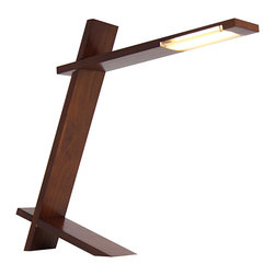 "Lumisource - Plank Lamp, Walnut - 20"" L x 3"" W x 17.25"" H"