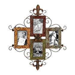 Benzara - Metal Photo Frame 24in.H, 21in.W Wall Decor - Size: 21 Wide x 1 Depth x 24 High (Inches)