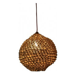 Ovni Pendant Lamp in Recycled Paper