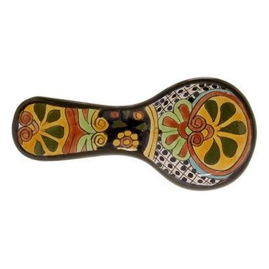 Mexican Talavera - Mexican Talavera Spoon Rest, Design A - Mexican Talavera Spoon Rest