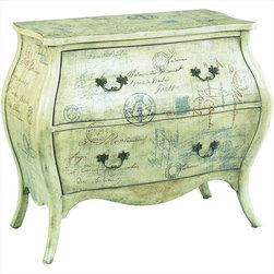 "Hammary - Hidden Treasures Script Bombe Chest - ""Hammary's Hidden Treasures collection is a fine assortment of unique accent pieces inspired by some of the greatest designs the world over. Each selection is rich in Old World icons and traditions."