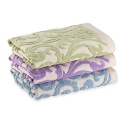 Bianca Usa, Inc. - AFLOR Arcadian Wash Cloth - Indulge in comfort as you freshen up your bathroom with the AFLOR Arcadian Towel Collection. These luxuriously, textured jacquard towels feel as good as they look.