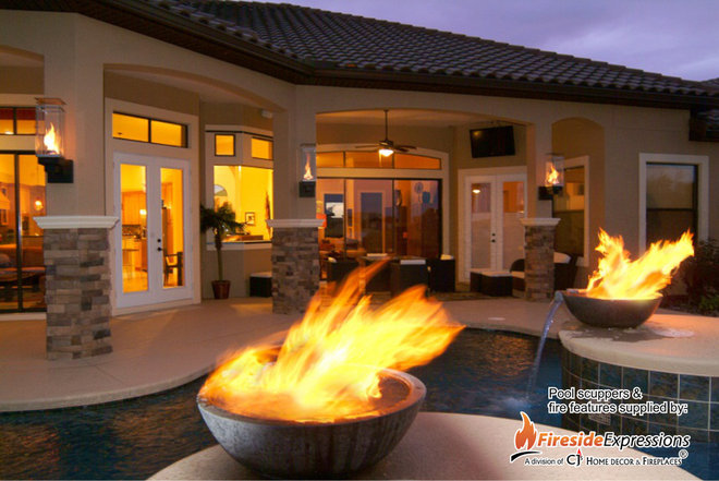 Modern Swimming Pools And Spas by CJ's Home Decor & Fireplaces