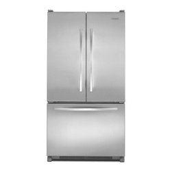 """KitchenAid - Architect Series II KBFS20EVMS 36"""" 19.8 cu. ft. Capacity Counter-Depth French Do - The KitchenAid KBFS20EV 198 Cu Ft capacity French door refrigerator with interior water dispenser provides distinctive styling and allows more workable space in the kitchen The internal water dispenser doesn39t clutter the sleek look of the doors And..."""