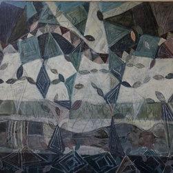 "Tom Hamilton, 1951 - 2011, Oil on Canvas 'Poplars' (19) - 1994 signed oil on canvas 'Poplars'; 84""w. X 51""h."
