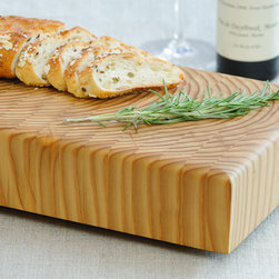 Cutting Boards - Larch Wood - Tiger Stripe Buffet Board is designed for both preparation and presentation. Made from end grain Larch. Naturally rot resistant and antimicrobial