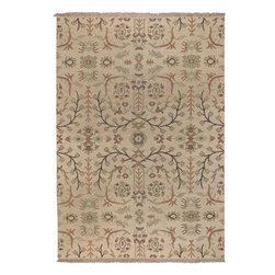 Sonoma SNM9002 Cream Rug - 6'x9' - Sonoma SNM-9002 Cream: Traditional rugs inspired by Persian rugs, Antique Oriental rugs or other traditional area rugs are available now. ModernRugs. om is now also featuring traditional rug designs. Traditional Persian and Oriental rugs from ModernRugs. om are now available in a variety of colors and styles, and complement any space. Our traditional Persian rugs provide an elegant look. These Traditional antique Oriental rugs are timeless and add a touch of class to your home. This Traditional area rug is Hand Knotted in India with 100% New Zealand Wool. The specific colors of this rug include Cream, Sage, Rust, Brown. he primary color of this rug is white.