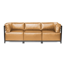 Howard Elliott - Howard Elliott Shimmer Gold Axis 3pc Sectional - Titanium Frame - Axis 3pc sectional shimmer gold titanium frame