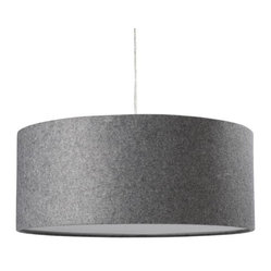Short Drum Pendant, Gray Felt