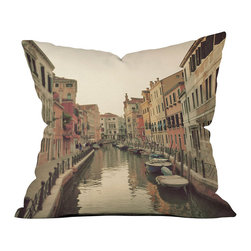 DENY Designs - DENY Designs Happee Monkee Venice Waterways Throw Pillow - Canal Cool. Give your home some pop with the Happee Monkee Venice Waterways Throw Pillow from DENY Designs. Made from woven polyester, this throw pillow features a cool photo print of Venice's exquisite architecture and famous water canals. Use it as an eclectic-chic touch in your living room, or let it show off your worldly sense of style.Artist: Happee MonkeeA portion of proceeds go directly to the artistsConcealed zipper with bun insertMade in the USA