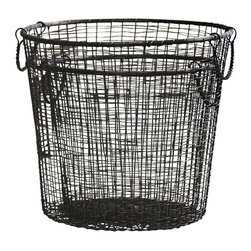 Wire Gathering Baskets - Set of 4 - So attractive with their intricate weave and gunmetal finish, the set of 4 Wire Gathering Baskets are sturdily constructed while being ultra chic, completely versatile and totally functional. Split them up and use them for various chores around the house or stage them together in your home office or man cave to hold, display or store whatever you need extra storage for. These baskets can and will get the job done and they will look stunning doing it.
