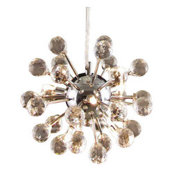 "The Gallery - MODERN CRYSTAL CHANDELIER CHANDELIERS LIGHTING LIGHT FIXTURE - 100% CRYSTAL CHANDELIER. A excellent crystal fixture for your foyer, dining room, living room and more! This fixture features beautiful 100% Crystals Balls that capture and reflect the light. Truly a stunning chandelier, this chandelier is sure to lend a special atmosphere anywhere it is placed. Collection: G902 Modern Collection SIZE: H 20-51"" W 9"" LIGHTS: 6 x G4 BULBS"