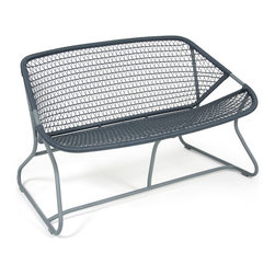 Fermob Sixties Collection - Fermob Sixties Bench in Storm Grey + Slate