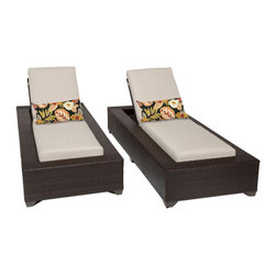 TKC - Kokomo Chaise Set of 2 Outdoor Wicker Patio Furniture 2 for 1 Cover Set - The Kokomo Collection has a beautiful yet simple design. The Espresso all-weather wicker comes in rich tones of brown which gives it a warm and luxurious feel.