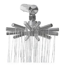 """n/a - Mosaic Sunburst Showerhead - Sunburst Round Armed Shower Head w/ 66 Shower Jets & 16"""" Shower Arm"""