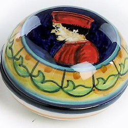 Artistica - Hand Made in Italy - URBINO: Jewelry box Duca (Duke) - DERUTA VARIO Collection: Over 500 years of artistic heritage has produced a multitude of ceramic artists in the Italian town of Deruta.