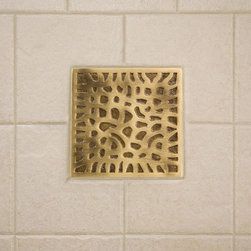 "4"" Solid Brass Wall Tile with Coral Design - Made of solid brass and featuring the beautiful texture of coral, this accent wall tile is the perfect focal point for your bathroom or kitchen. Pair with the optional tile frame to create a unique, sophisticated look."