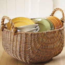 Jacquelyne Rope Handled Basket - These are a great way to store magazines and newspapers. Plus, you can never have too many pretty baskets around, especially when they have rope handles.