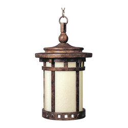 Maxim Lighting - Maxim Santa Barbara EE 1-Light Outdoor Hanging Lantern Sienna - 85038MOSE - Santa Barbara EE is a traditional, craftsman/mission style, energy saving collection from Maxim Lighting Interior in Sienna Finish with Mocha glass.