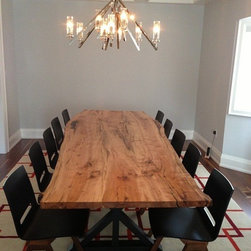 Urban Tree Salvage - Reclaimed Maple Live Edge Dining Table Top - WWW.URBANTREESALVAGE.COM            647.438.7516