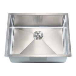 """Ariel - Stainless Steel Undermount Single Bowl Kitchen / Bar Sink - 16 Gauge, Brushed St - The classic 26 inch single bowl sink is perfect for all your kitchen needs. Great for any bar area or prep station. Exterior Dimensions: 26"""" x 20"""" x 10-1/2"""". Interior Dimensions: 24"""" x 18"""" x 10-1/2""""."""