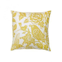 5 Surry Lane - Thomas Paul Yellow Love Bird Pillow - Add just a touch of whimsy to your sofa or bedding with this darling throw pillow. Pick between two modern colors to bring a charming pattern to the mix or simply turn it over for a solid color option. It's a stylish piece for mixing and matching throughout your well-appointed home.