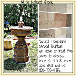 Natural Stone Fountains - Natural stone is affordable when you buy directly from the producer! and remember it's a piece that will last forever! We have the best prices in the market because we are manufactures!  https://www.facebook.com/pages/All-in-Natural-Stone/118375988202587?ref=stream&viewer_id=100001134482214