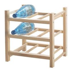 Nicholai Wiig Hansen - HUTTEN 9-bottle wine rack - 9-bottle wine rack, solid wood