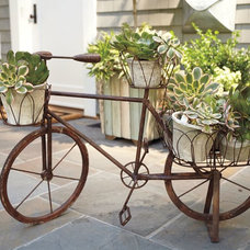 eclectic outdoor planters by Pottery Barn