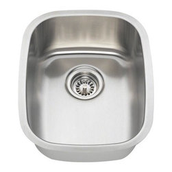 PolarisSinks - Polaris P5181 Stainless Steel Bar Sink - Stainless Steel is the most popular choice for today's kitchens due to its clean look and durability. The beautiful brushed satin finish helps to hide small scratches that may occur over the lifetime of the sink. Our Stainless Steel sinks are made from high quality 16 gauge steel, which is 25% thicker than 18 gauge. Most models are made of one piece construction that ensures the sturdiest kitchen sink you will find. Our sinks are made from 304 grade stainless steel that contains 18% chromium and 8-10% nickel and are guaranteed not to rust. Each sink is fully insulated and has a sound dampening pad. Our stainless steel sinks are backed by a Limited lifetime warranty. Each sink comes with a cardboard cutout template and mounting hardware.