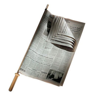"""Alessi - Alessi Newspaper Holder - Keep your daily paper neat and orderly with a cherry wood holder. It's perfect for holding all your favorite reads in place. This and a subscription to the """"Sunday Times"""" would make a great gift for your best friend."""
