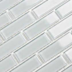 Bodesi - Icicle Solid Color Subway Mosaic Glass Tile for Kitchen Backsplash or Bathroom f - A very light cool blue; almost off white, but just the right amount of hue to give it some life. Suitable in kitchens and bathrooms, this mosaic attracts the right amount of attention with its understated pattern and gentle colors. Use this tile where anything busier would be too much, but anything less would not be enough. Our solid color series of tiles are perfect where subtlety is required. Firm mesh and picture perfect grout lines are sure to impress. Matched with a price that is hard to beat, this tile is very high quality material and craftsmanship to polish of your next renovation.