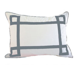 Jill Sorensen Lifestyle - Grey Lucky Euro Sham - Modern, fun & chic!  This luxurious bedding collection adds stylish graphics to any bedroom. 1 Euro sham is included in the purchase.