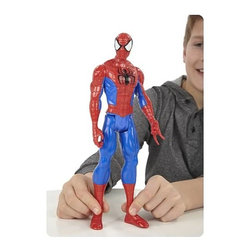 KOOLEKOO - Spider-Man Titan Hero Action Figure - One bite from a radioactive spider changed Peter Parker's life forever, giving him super-human powers and amazing wall-crawling ability. Wearing the mask that has made him a legend, he battles evil wherever a hero is needed as the one-and-only Spider-Man!