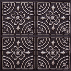 """Decorative Ceiling Tiles - Wrought Iron - Faux Tin Ceiling Tile - Glue up - 24""""x24"""" - #205 - Find copper, tin, aluminum and more styles of real metal ceiling tiles at affordable prices . We carry a huge selection and are always adding new style to our inventory."""