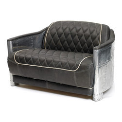 Hipster Sofa - The hipster sofa features a sleek, puffy and comfortable seating space which is ideally made for comfortable seating in home and other resting places. It perfectly matches with the vintage and industrial Style. Its steel frame structure with cigar colored leather sofa/couch makes it long lasting, durable as well as elegant. With the proper leather backrest, it makes for ideal resting furniture piece.