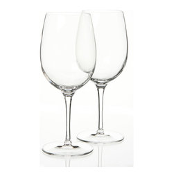 Luigi Bormioli - Luigi Bormioli SON.hyx Grandi Vini 20-oz Wine Glasses (Set of 6) - Entertain your guests in style with these Luigi Bormioli Italian wine glasses. Crafted from only the finest materials, this set of glassware will add an element of distinction to your table setting while maintaining practicality and ease of care.